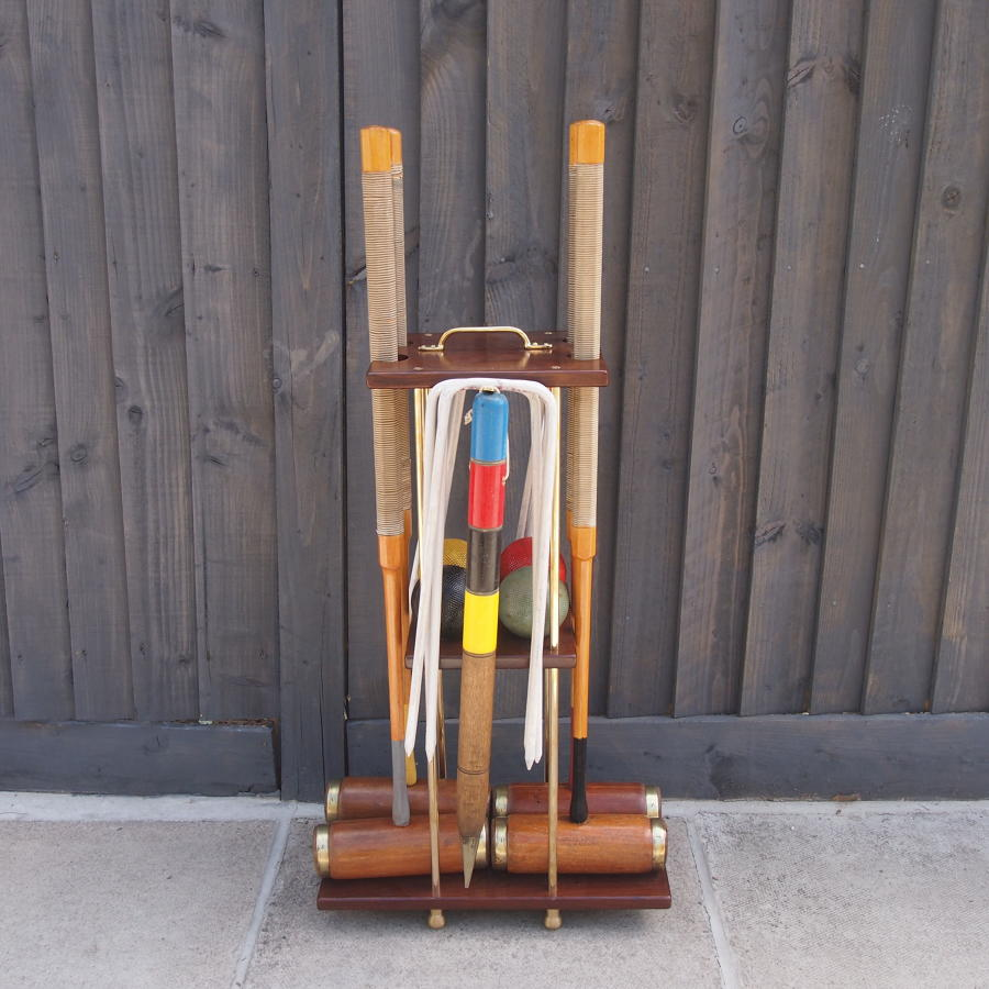Jaques 1930s Croquet Set on a Stand