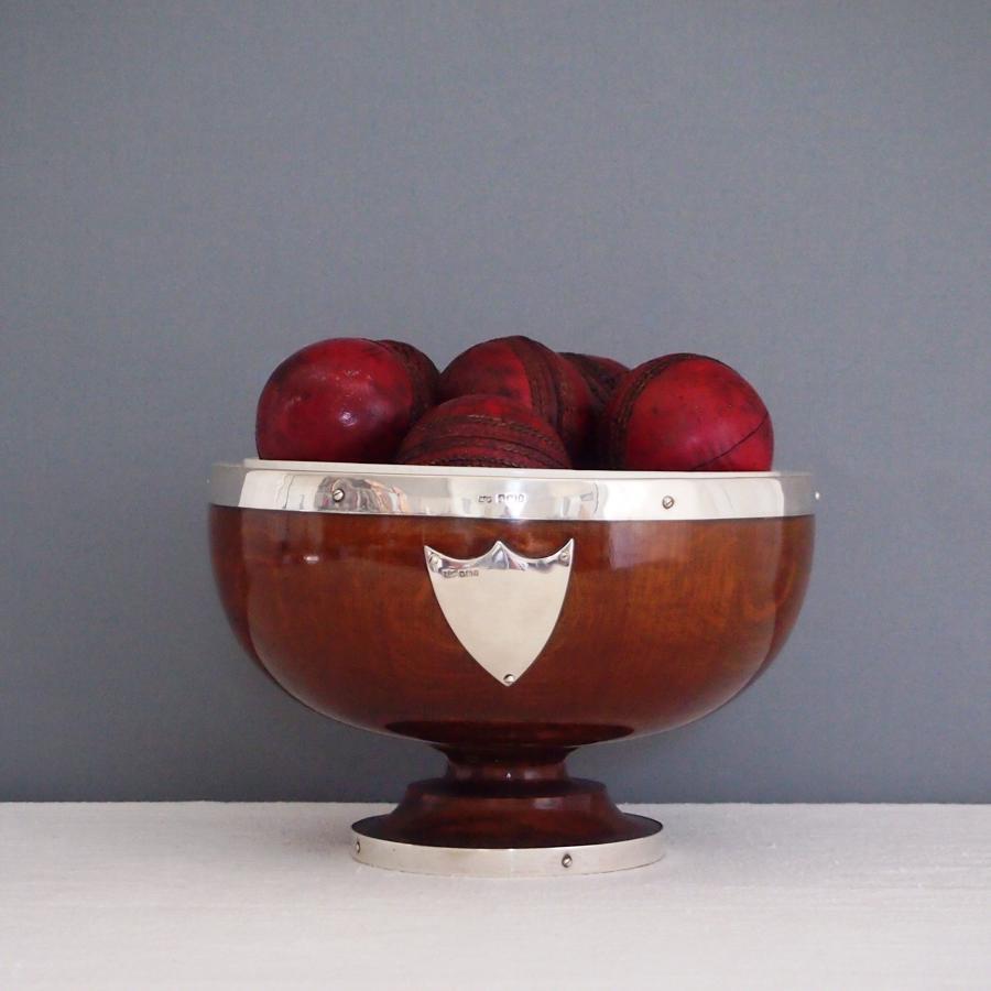Rare Oak & 1903 Silver Bowl
