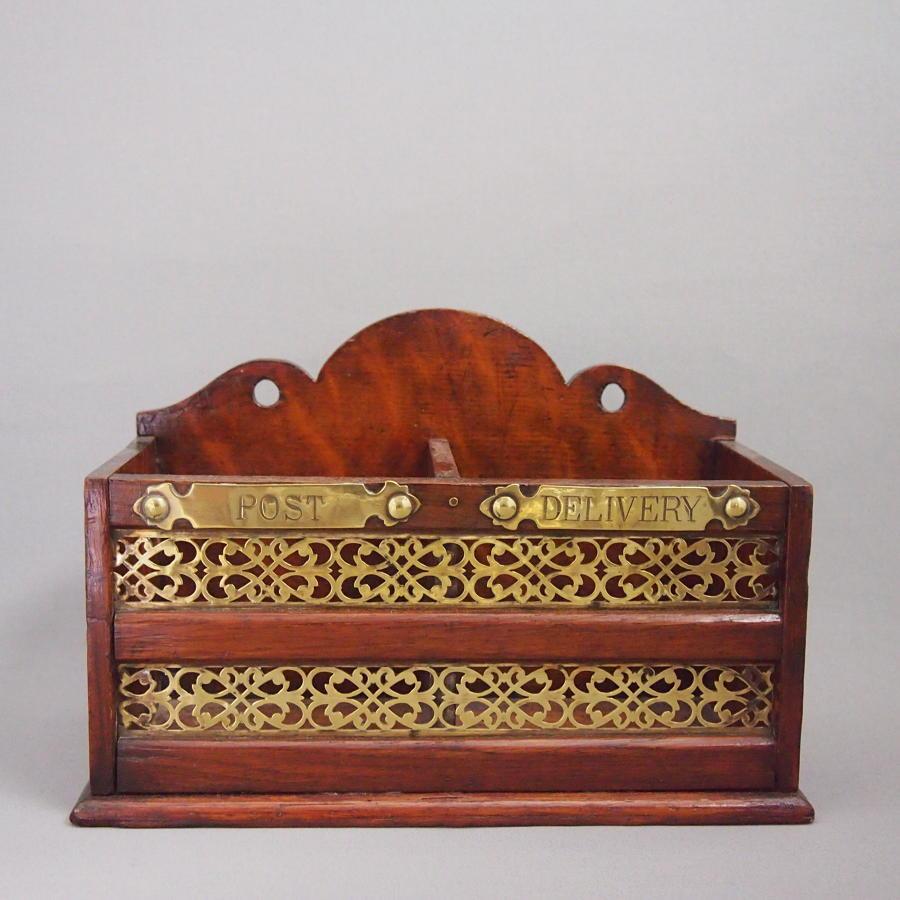 Desk Letter Box Brass late Victorian