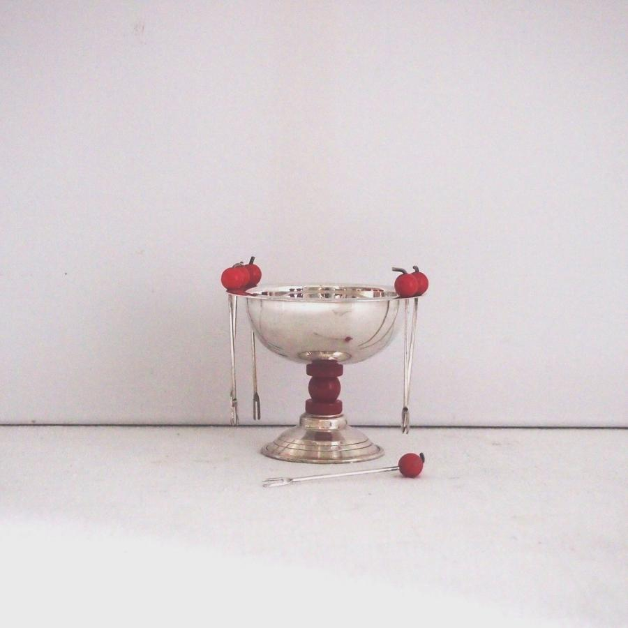 Silver Plated Cocktail Dish C1930s