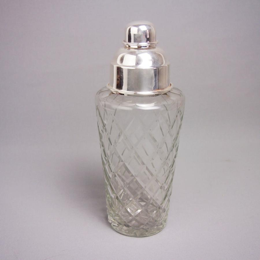 Silver Plated Glass Cocktail Shaker