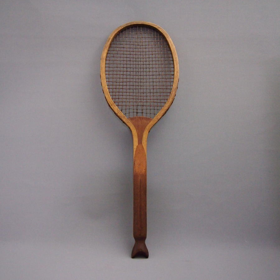 Vintage Fishtail Tennis Racket C1910