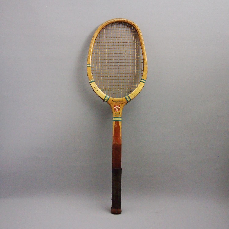 Vintage Wood Tennis Racket Cambridge University
