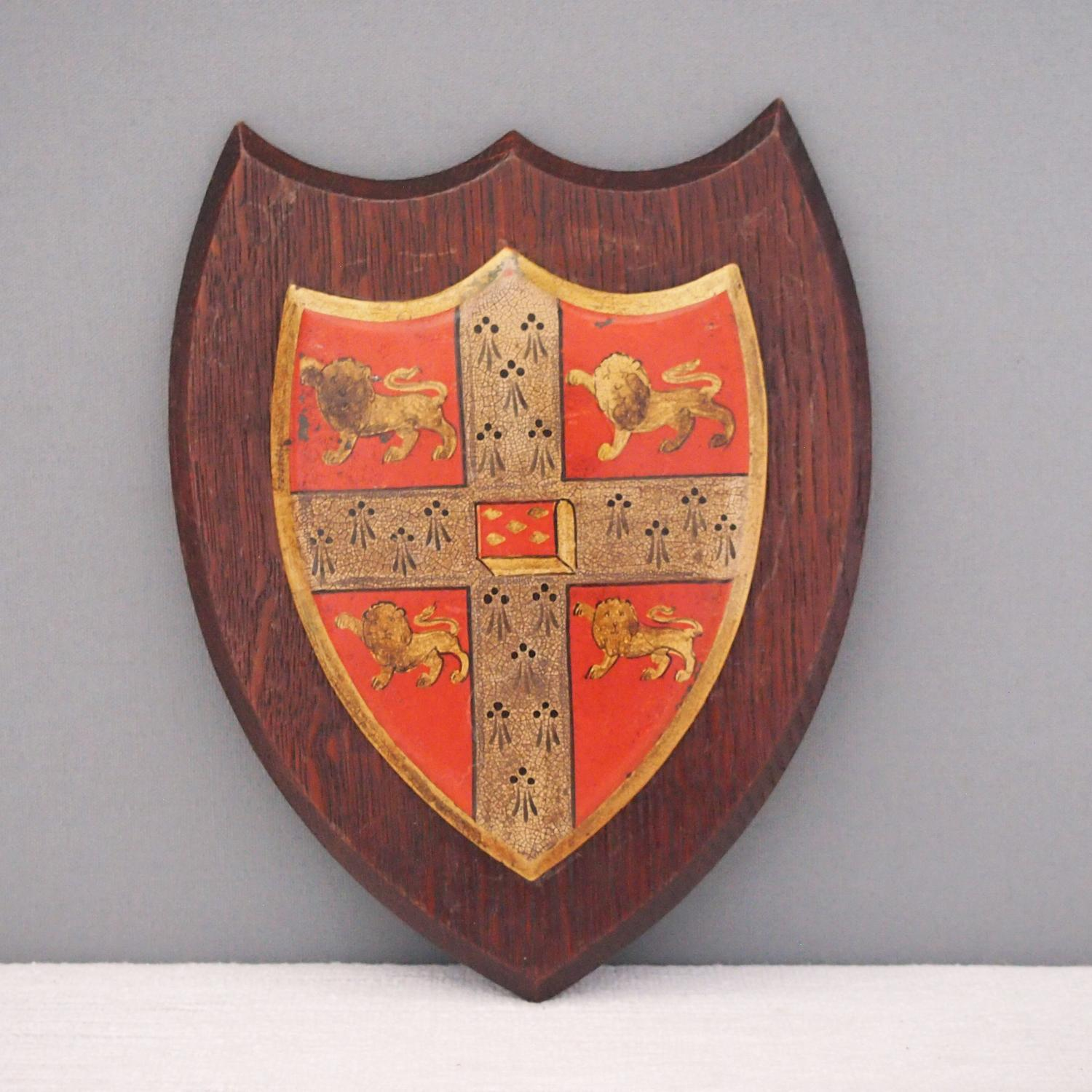 Cambridge College Crested Antique Shield C1910
