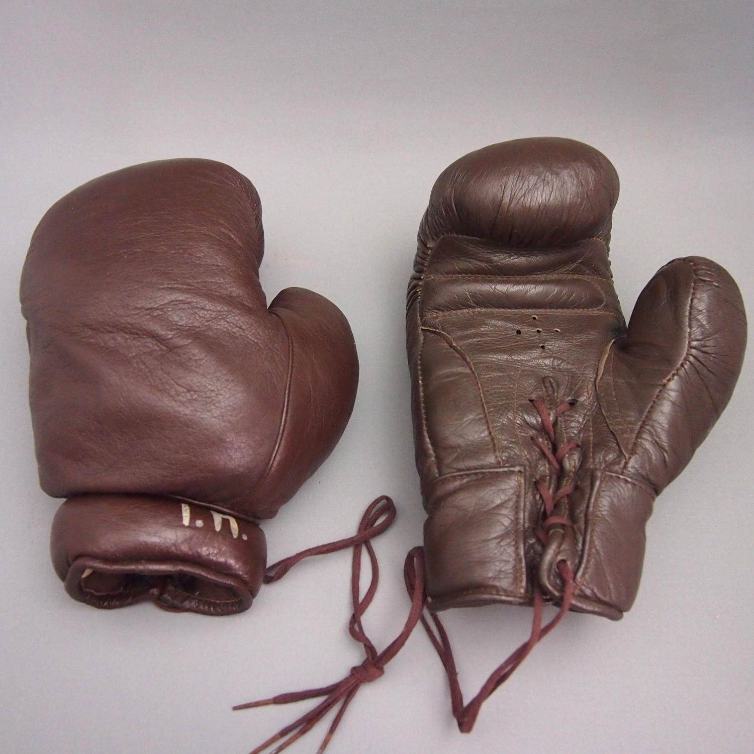 Vintage Leather Boxing Gloves Original C1960s