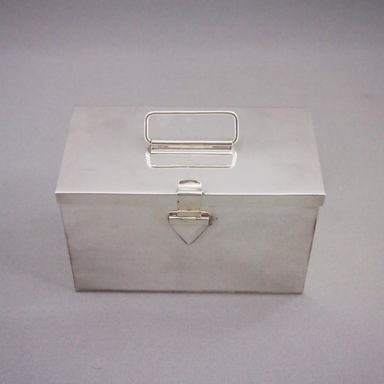 Silver Plated Vintage Sandwich Box C1920