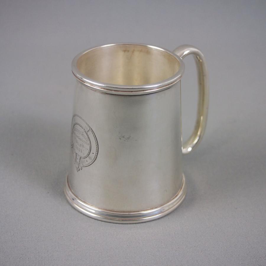 Silver Plated Half Pint Victorian Mug