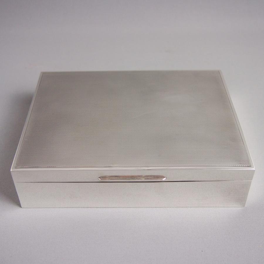 Vintage Silver Table Box Mappin & Webb London 1950