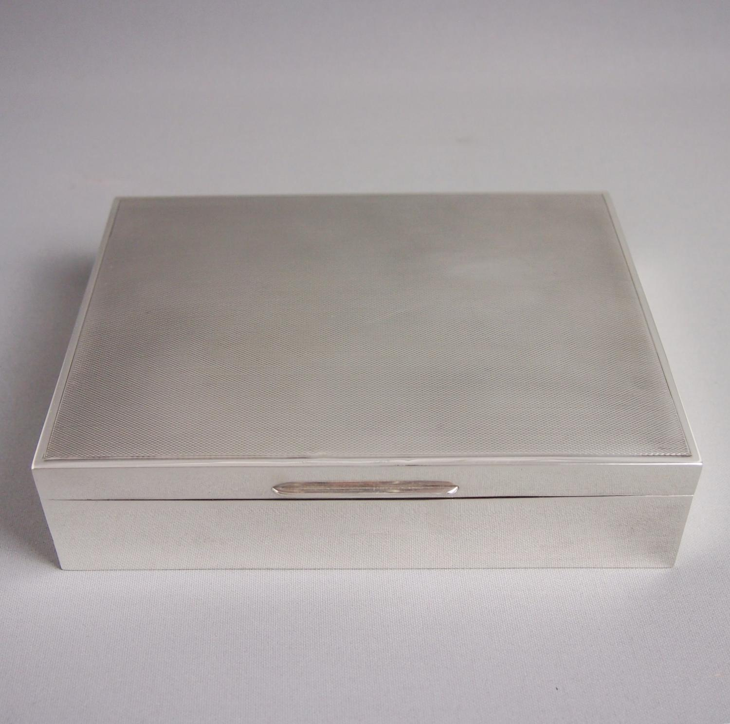 Vintage Silver Table Box Mappin & Webb London 1950