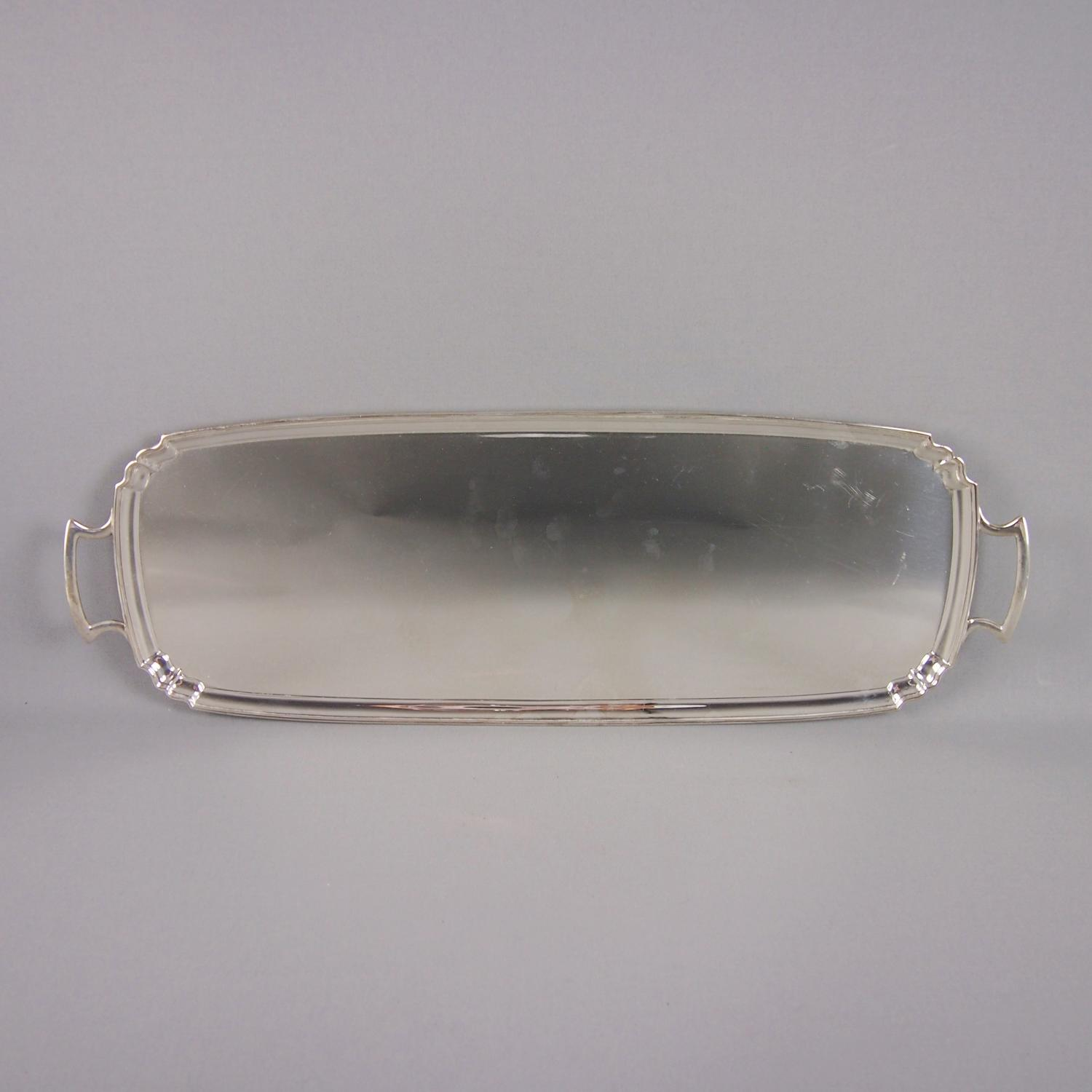 Silver Plated Oblong Cocktail Tray