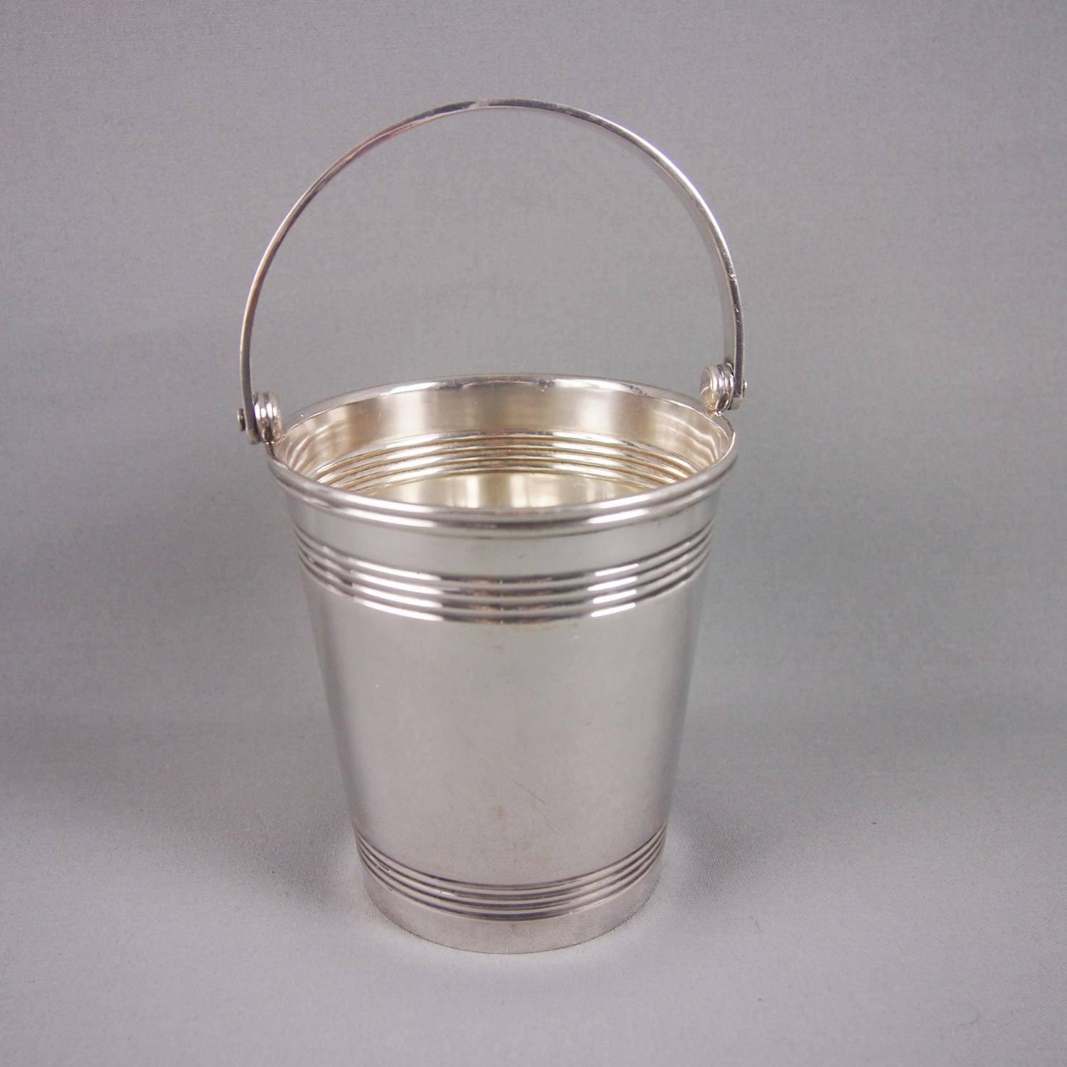 Silver Plated Ribbed Ice Bucket