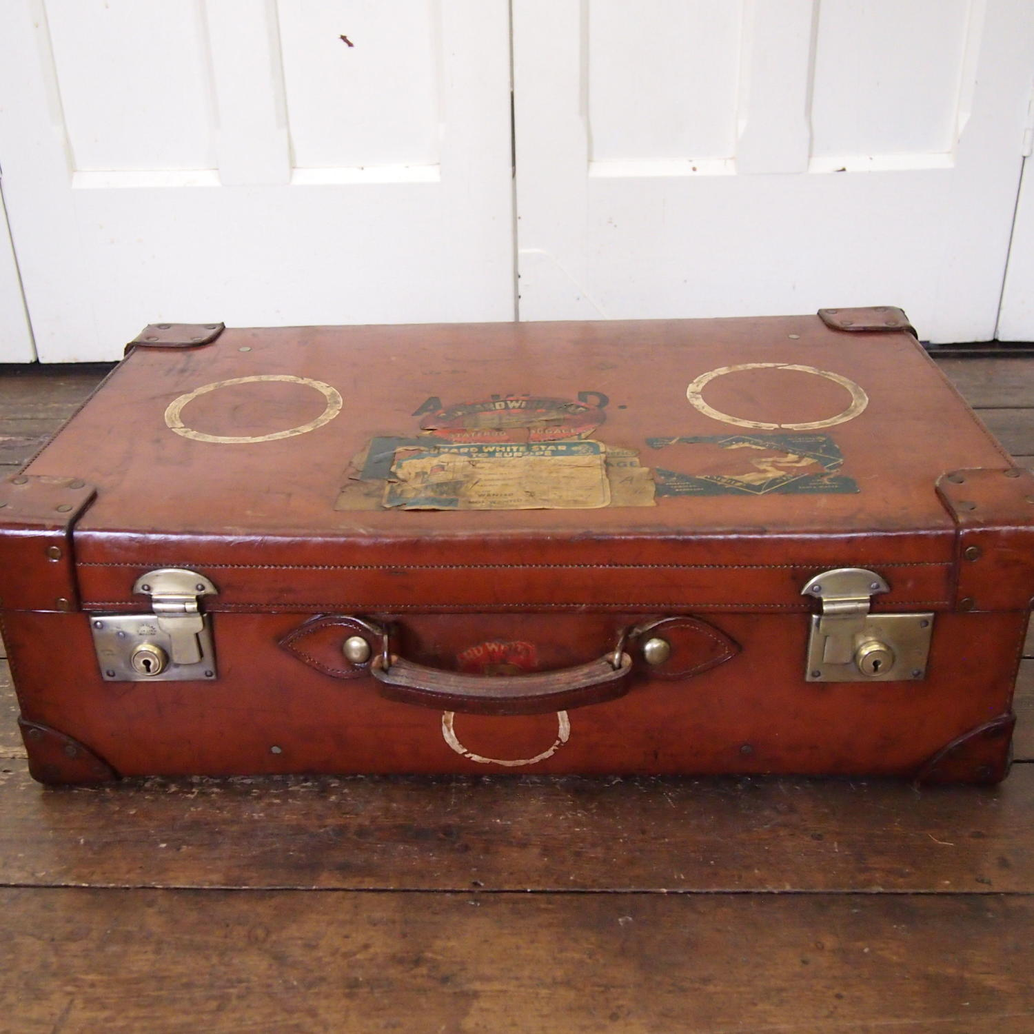 Superb Quality Hide Trunk Case C1940s