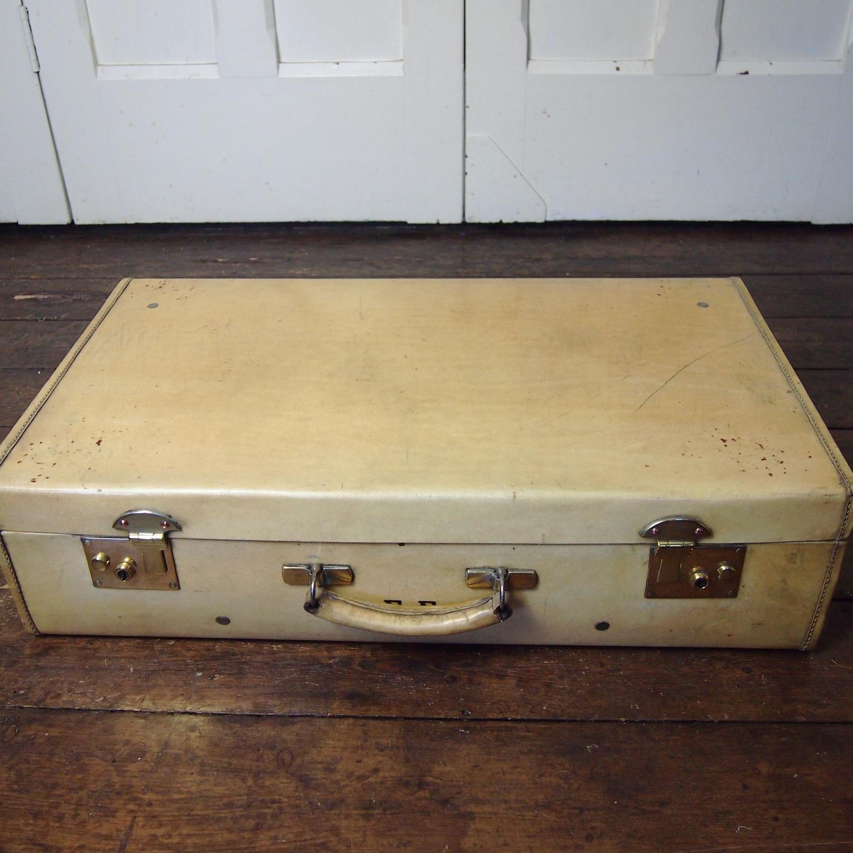 Vellum Oblong Medium Suitcase C1930s