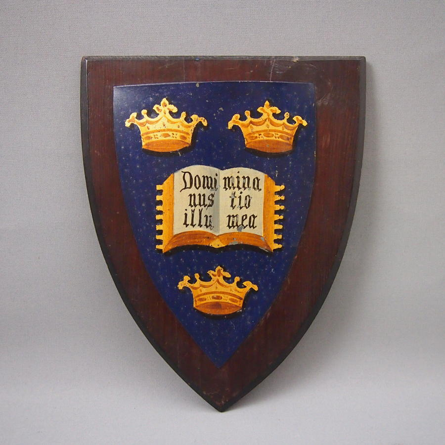 Oxford College University Coat of Arms  Crest C1900