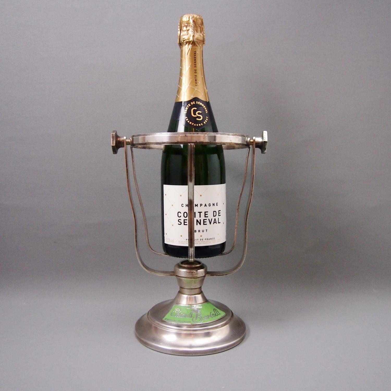 Silver Plated Vintage Tilting Champagne & Wine Cradle