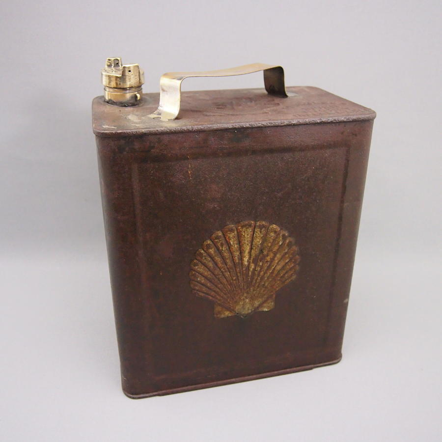 Metal Vintage Shell Petrol Can C1920s