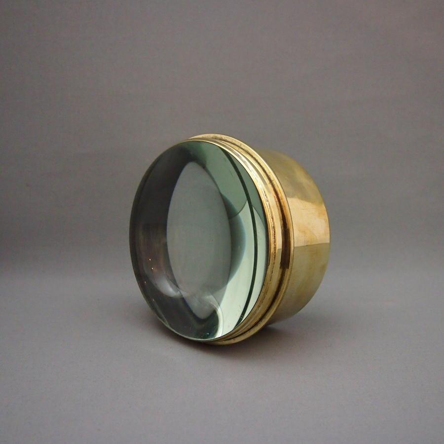 Brass & Glass Desk Lens