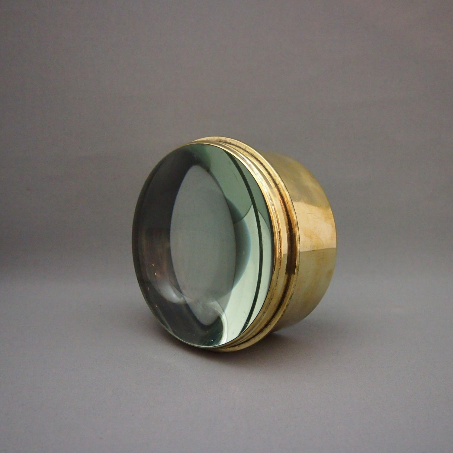 Brass & Glass Desk Lens