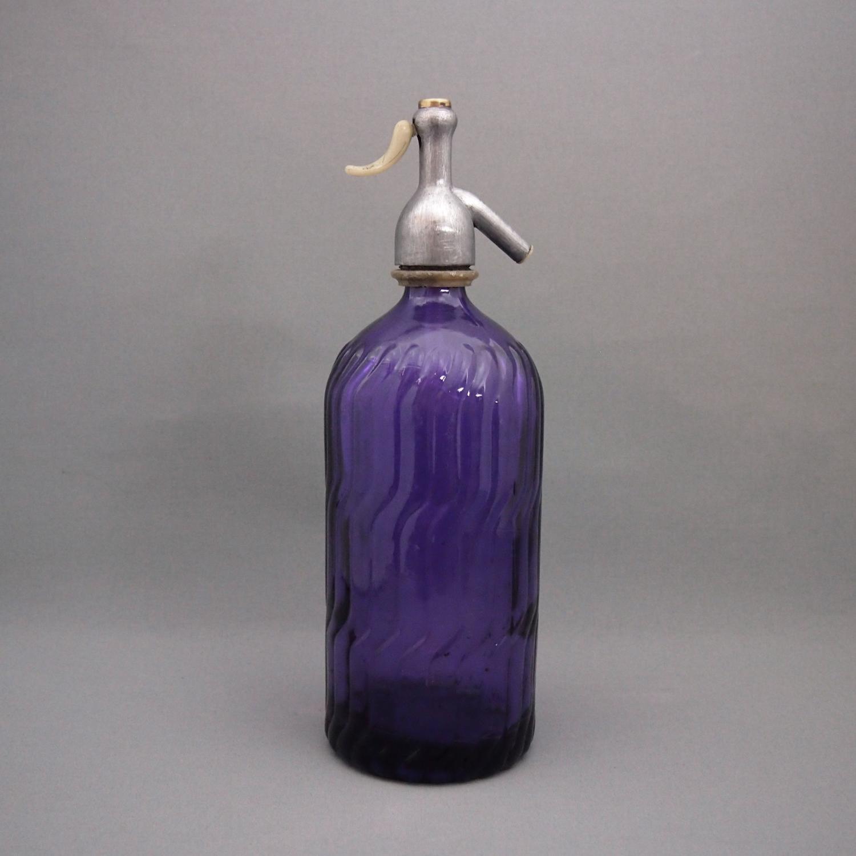 Spanish Coloured Glass Siphon Bottles c1950s.