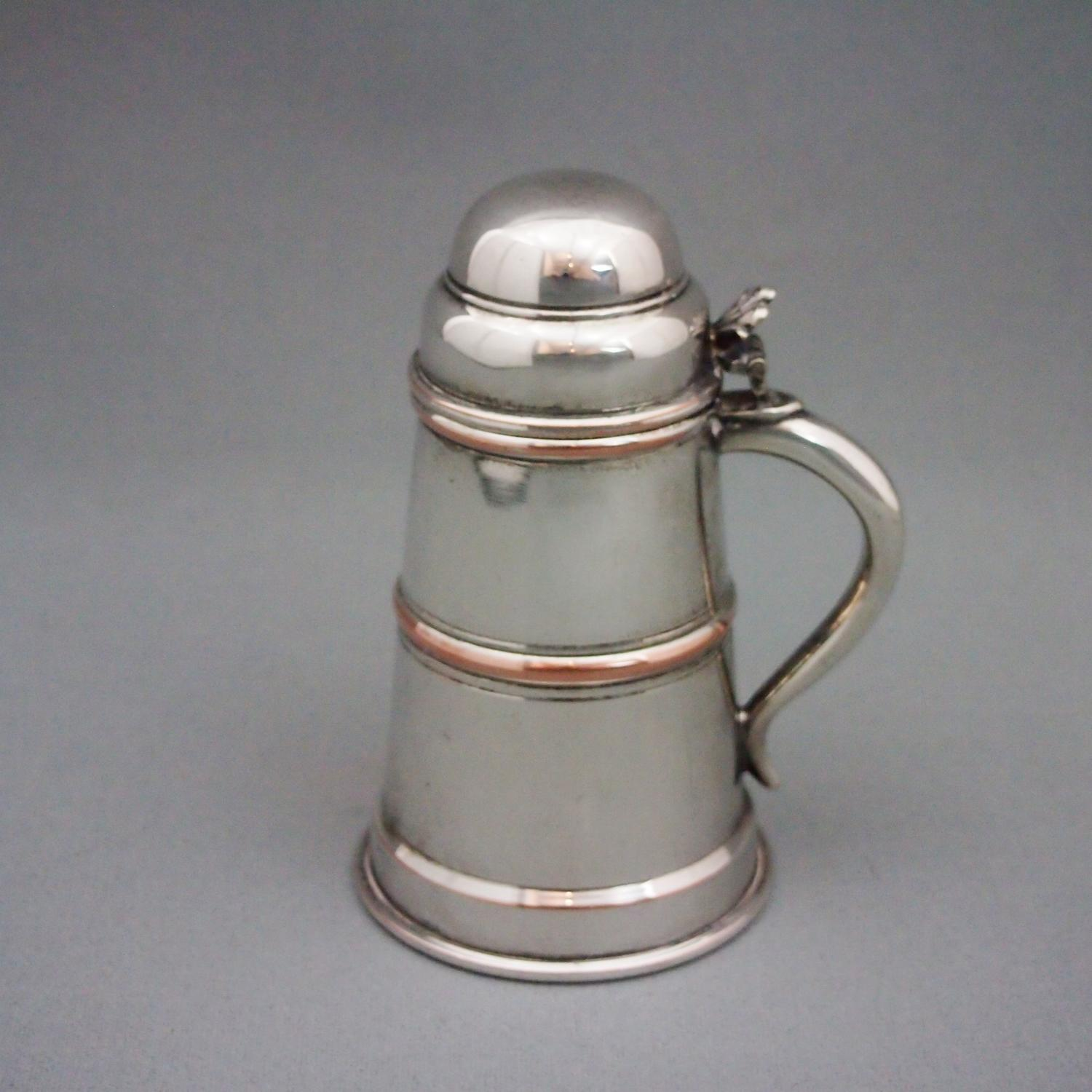 Silver Plated Small Tankard Cocktail Bar Set