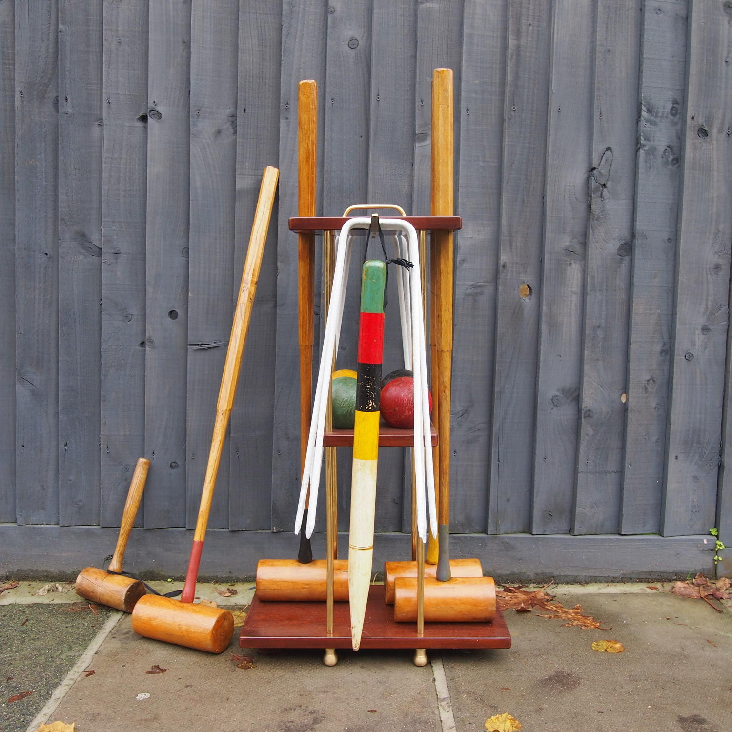Vintage Slazenger London Croquet Set on  Stand