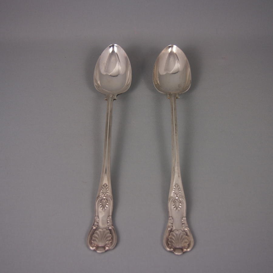 Pair of Large Silver Plated Basting & Serving Spoons.
