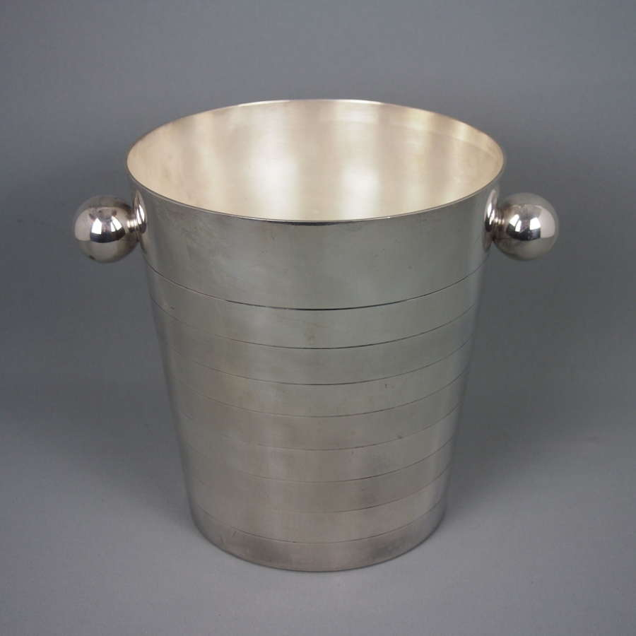 Vintage Silver Plated Champagne Bucket with Bobble Handles.