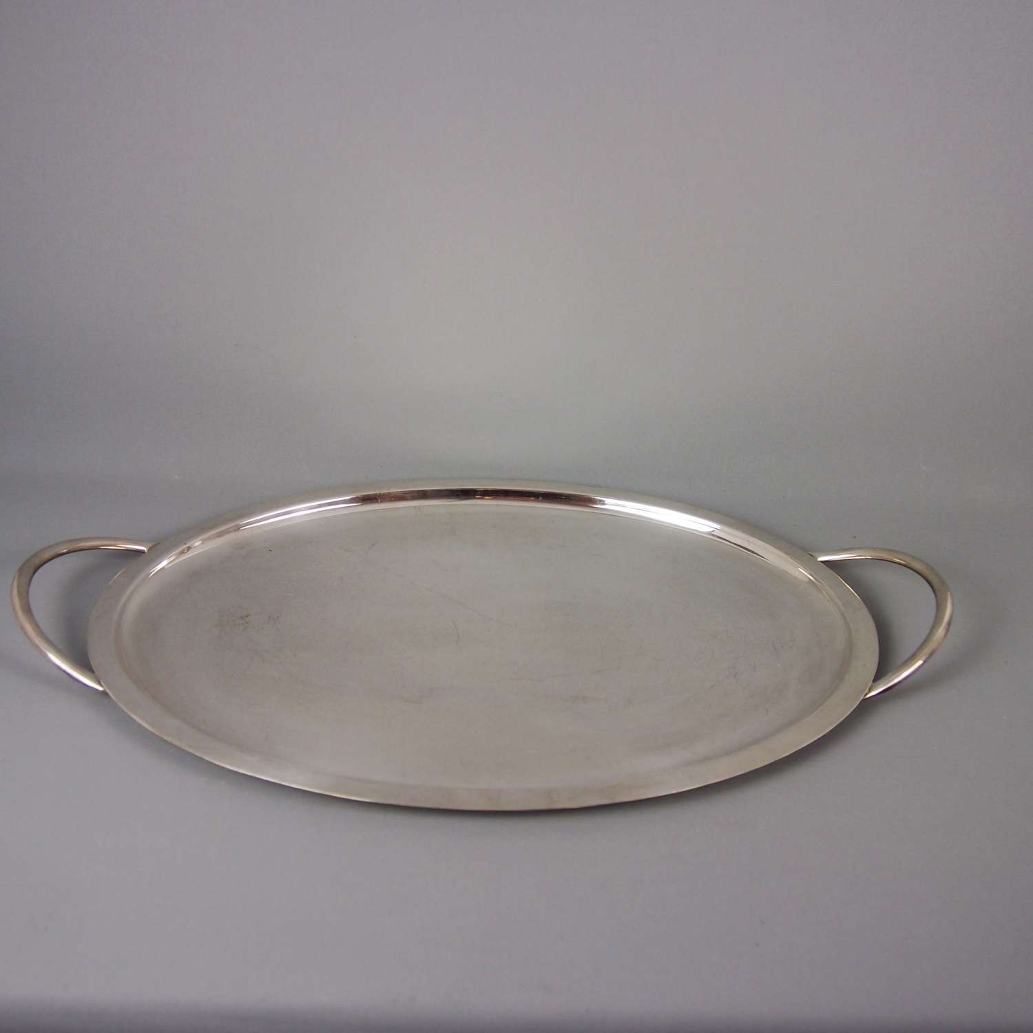 Oval Silver Plated Simple Tray C1930