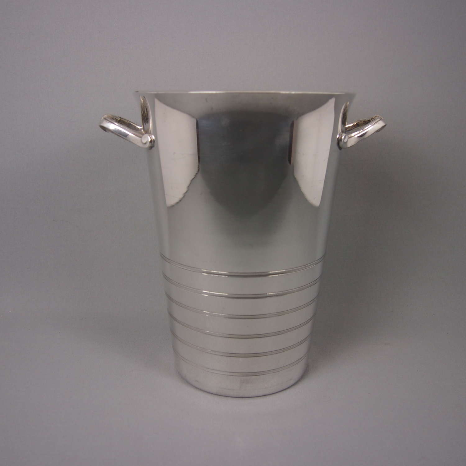 Tall Silver Plated Champagne Bucket with Scroll Handles