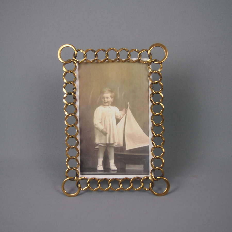 Brass Loop Antique Victorian Picture Frame . W8471