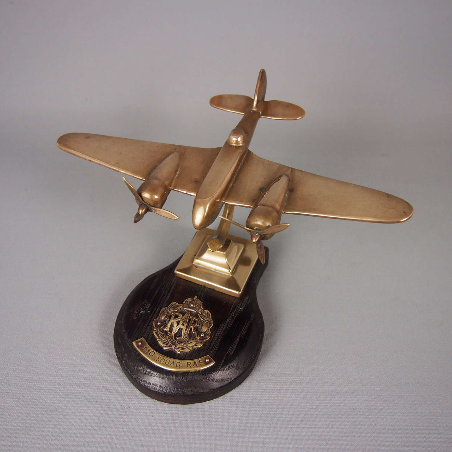 Brass Vintage RAF Model Blenheim Aeroplane. W8476