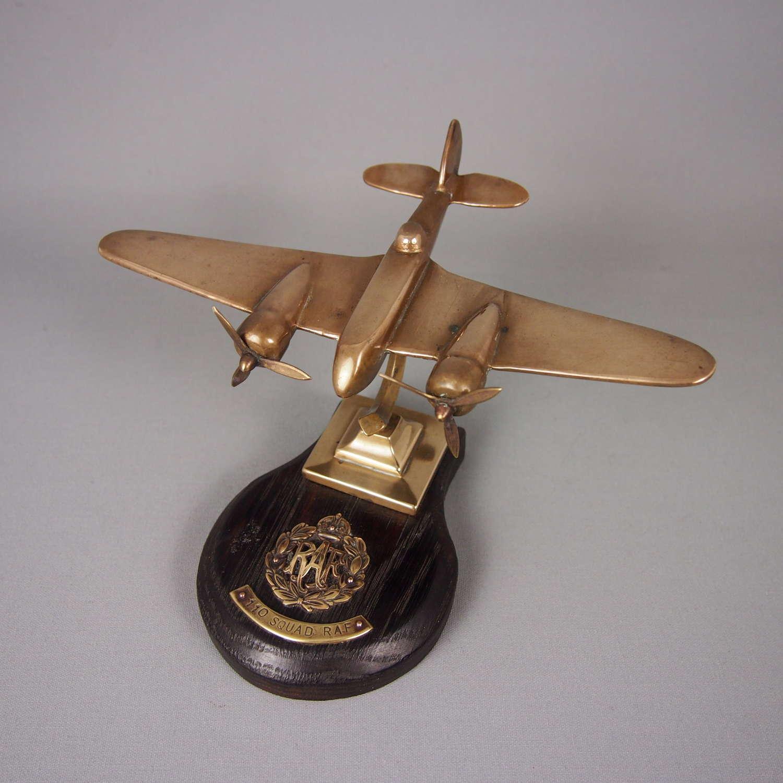 Brass Vintage RAF Model Blenheim Aeroplane. W8476