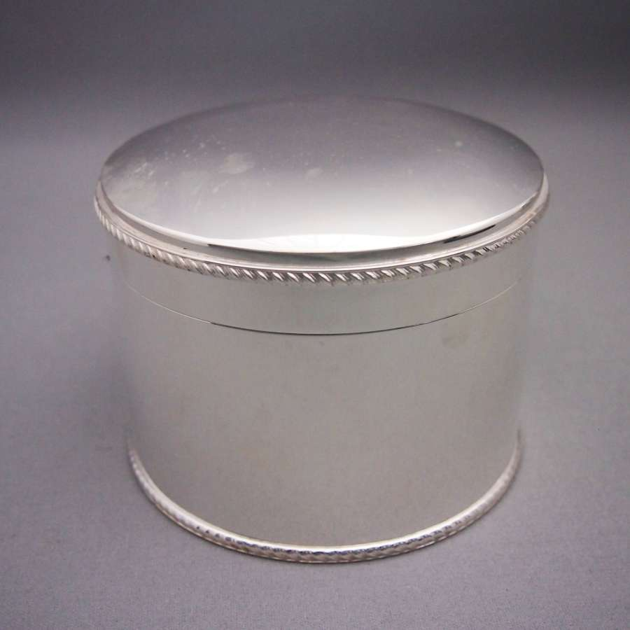 Silver Plated Antique Circular Box . W8487