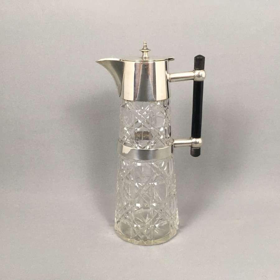 Antique cut glass jug decanter. W8500