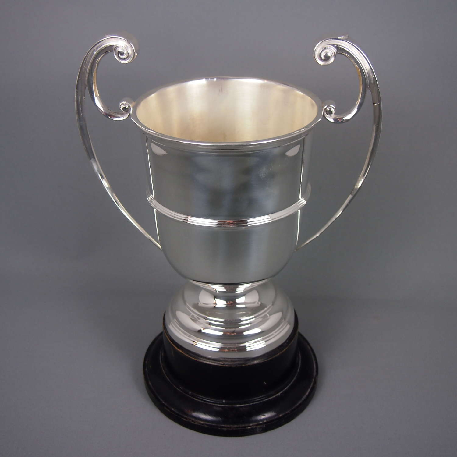 Vintage silver plated classic trophy on stand. W8501