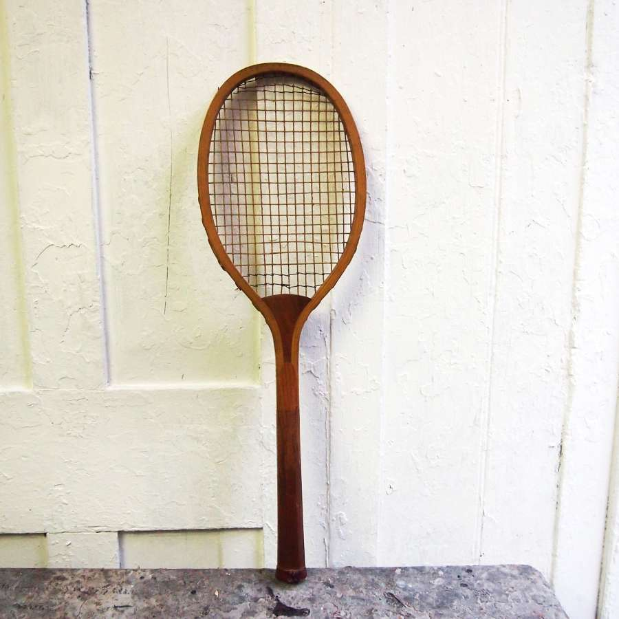 Vintage tennis racket convex wedge. W8509