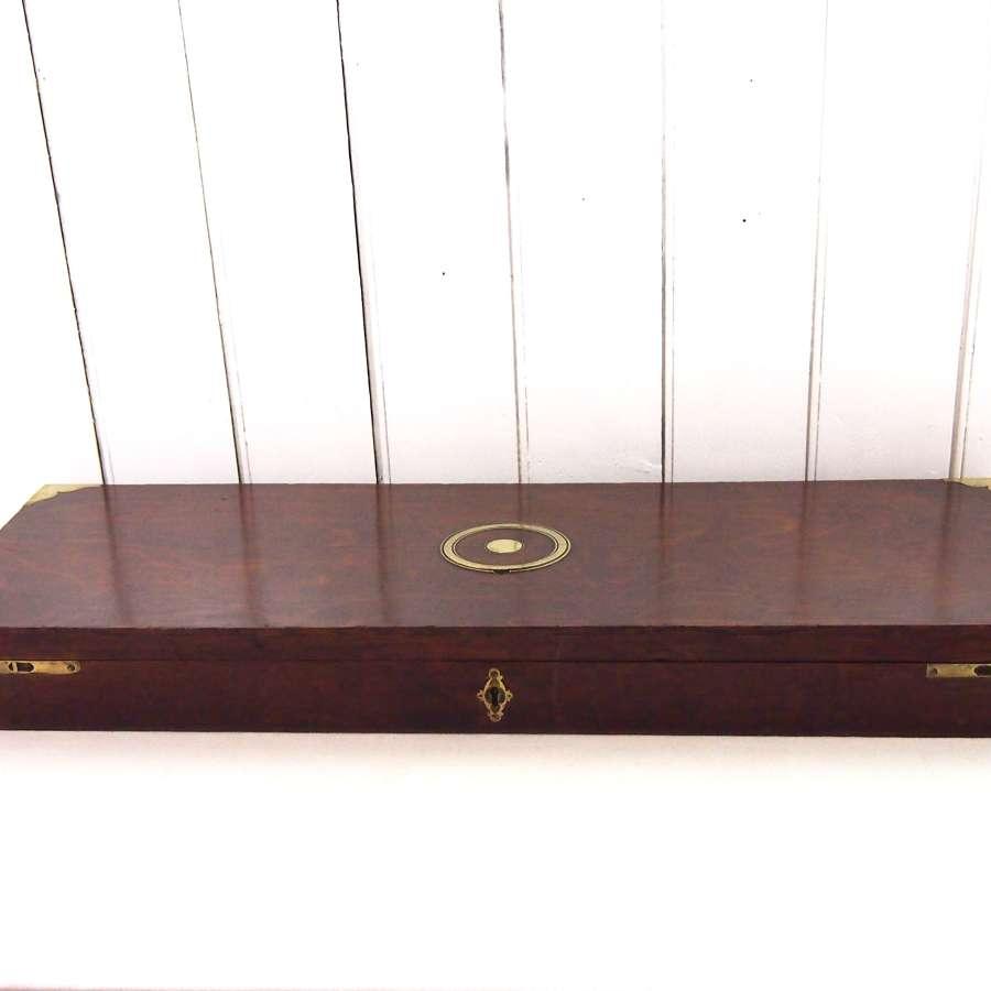 Antique oak sporting gun case. W8522