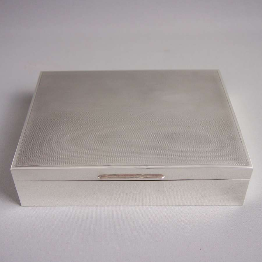 Silver Vintage Hallmarked Table  Box . W8524