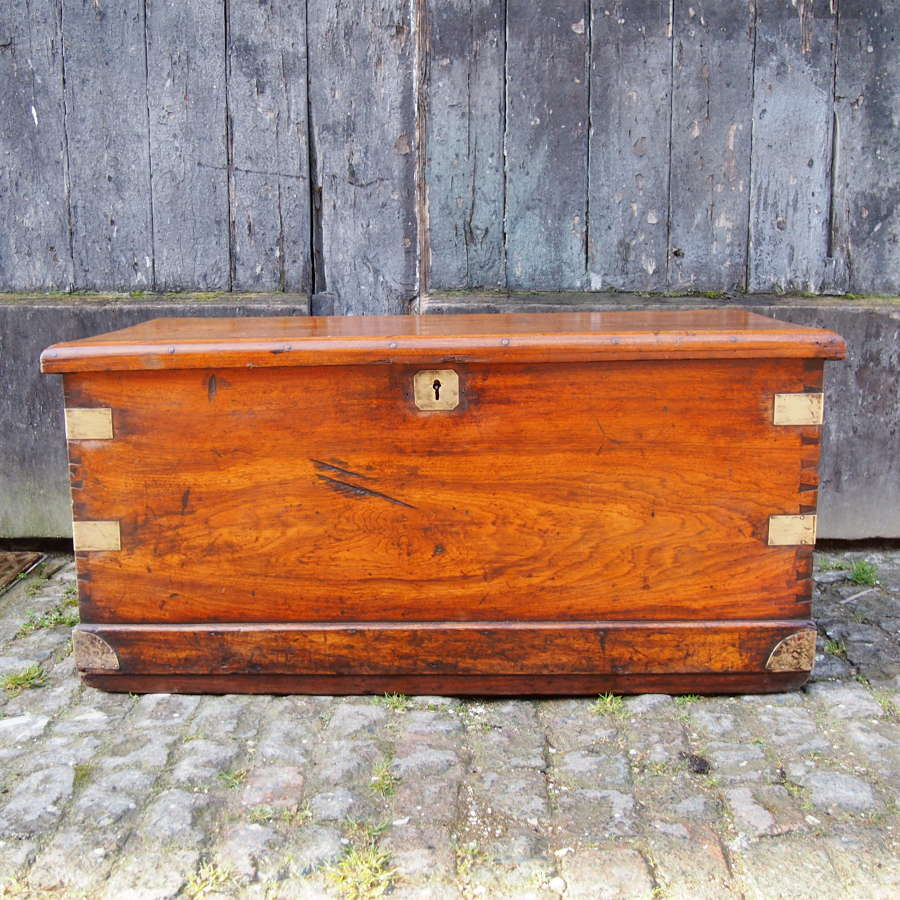 Antique Sea Chest Trunk Anglo Chinese C1860 W8527