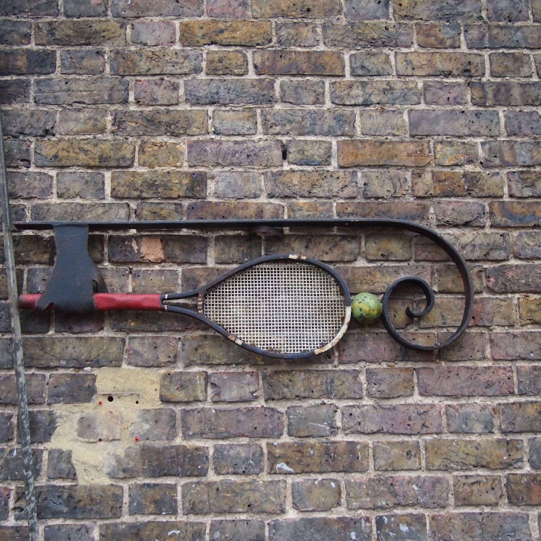 Cast Iron Rare Tennis Sign C1950s W8530