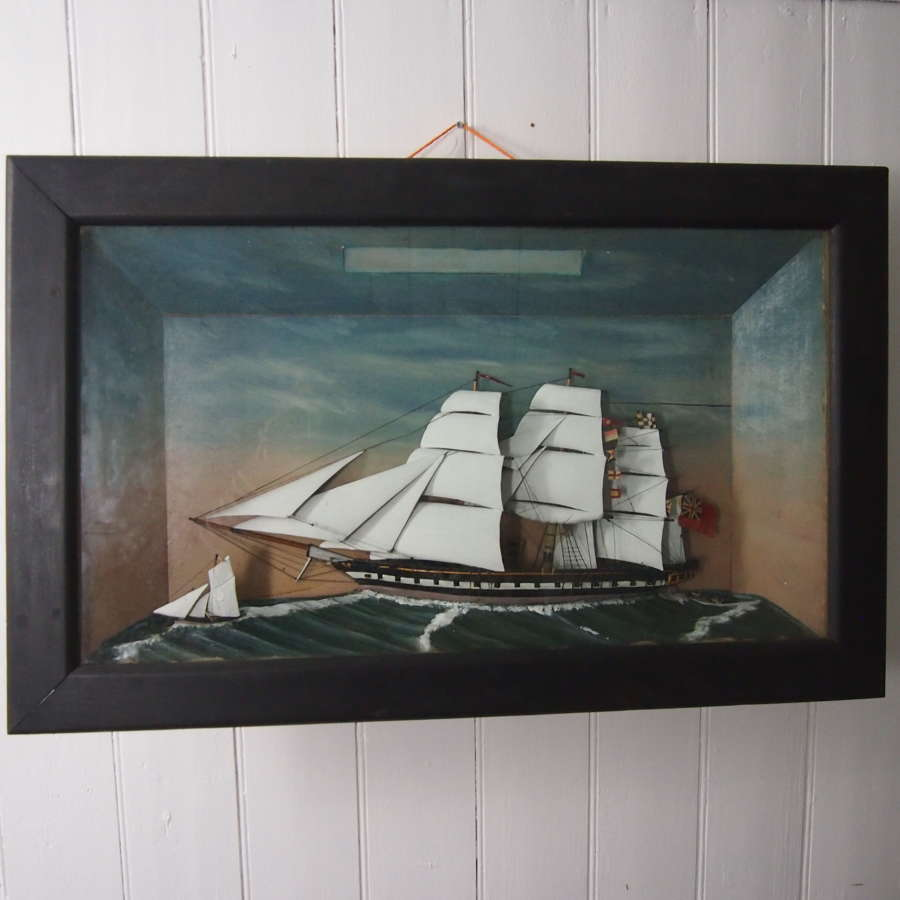 Sailing Yacht Diorama In Case C1900 W8534 .