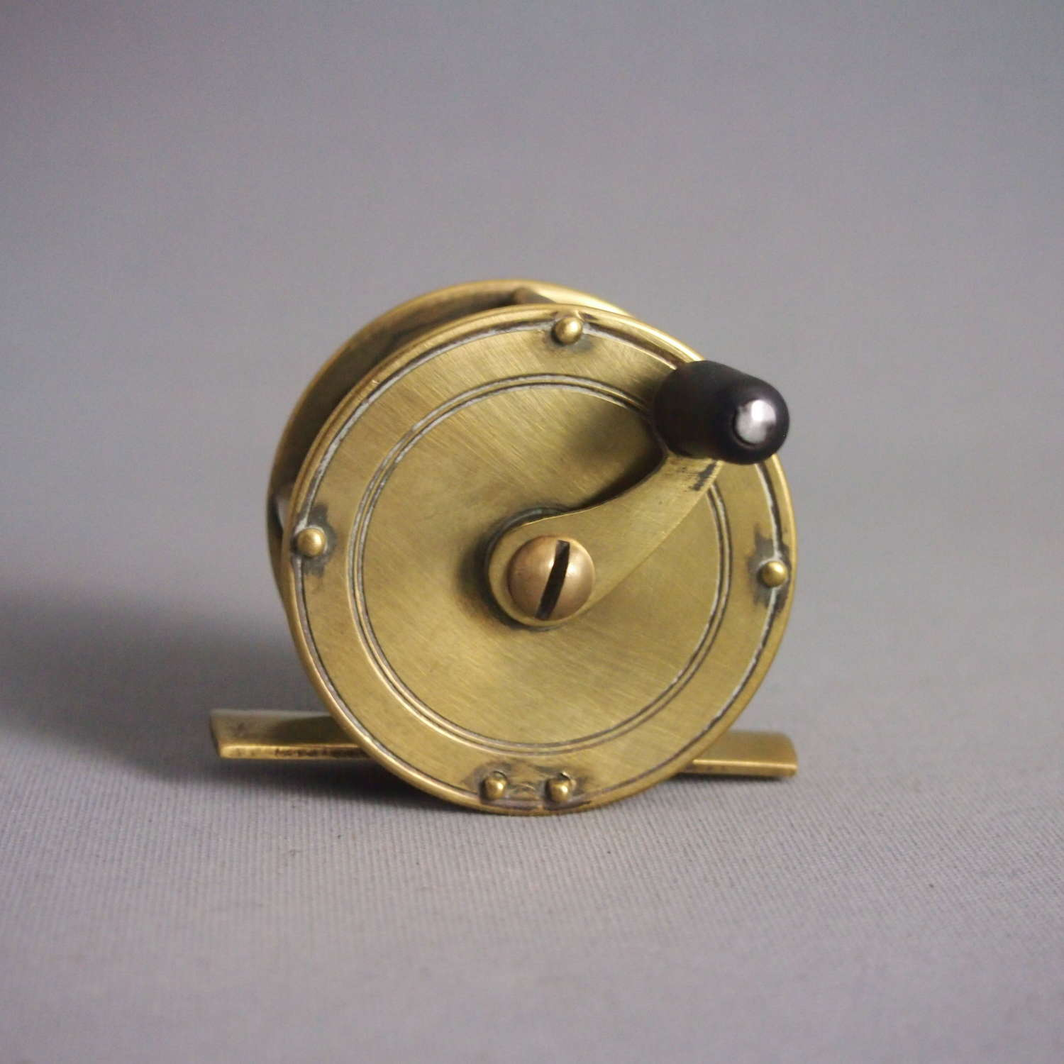 Small Brass Vintage Trout Fishing Reel.W8545