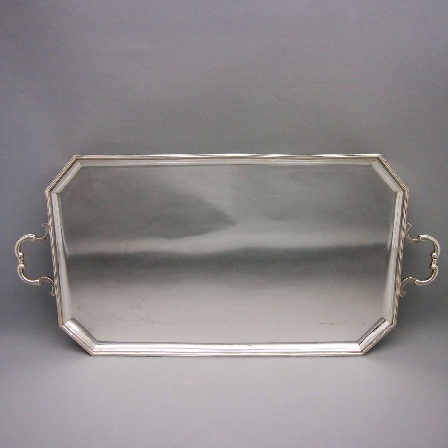 Oblong Good Quality Silver Plated VintageTray W8554