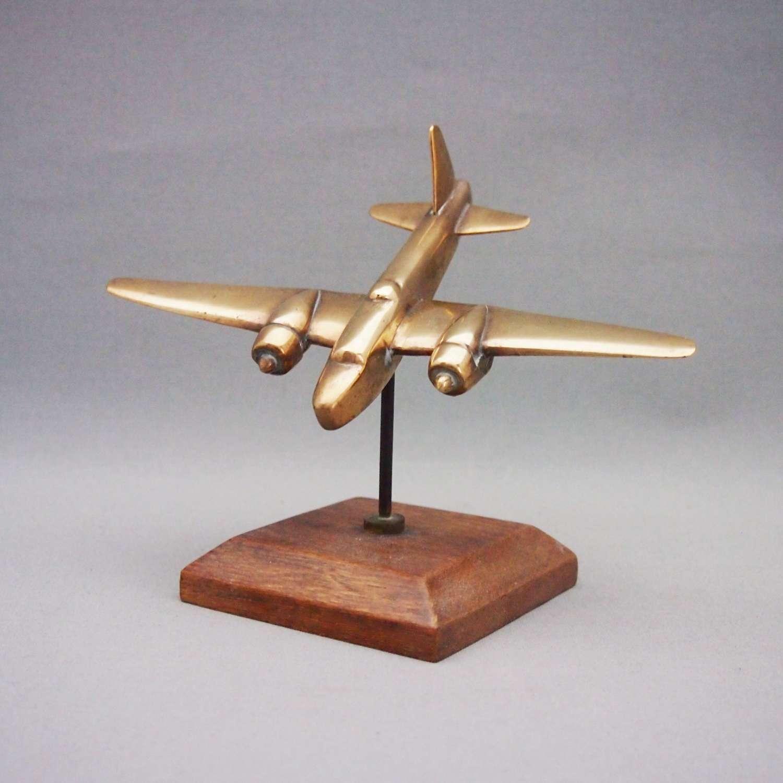Brass Spitfire Model Plane W8573