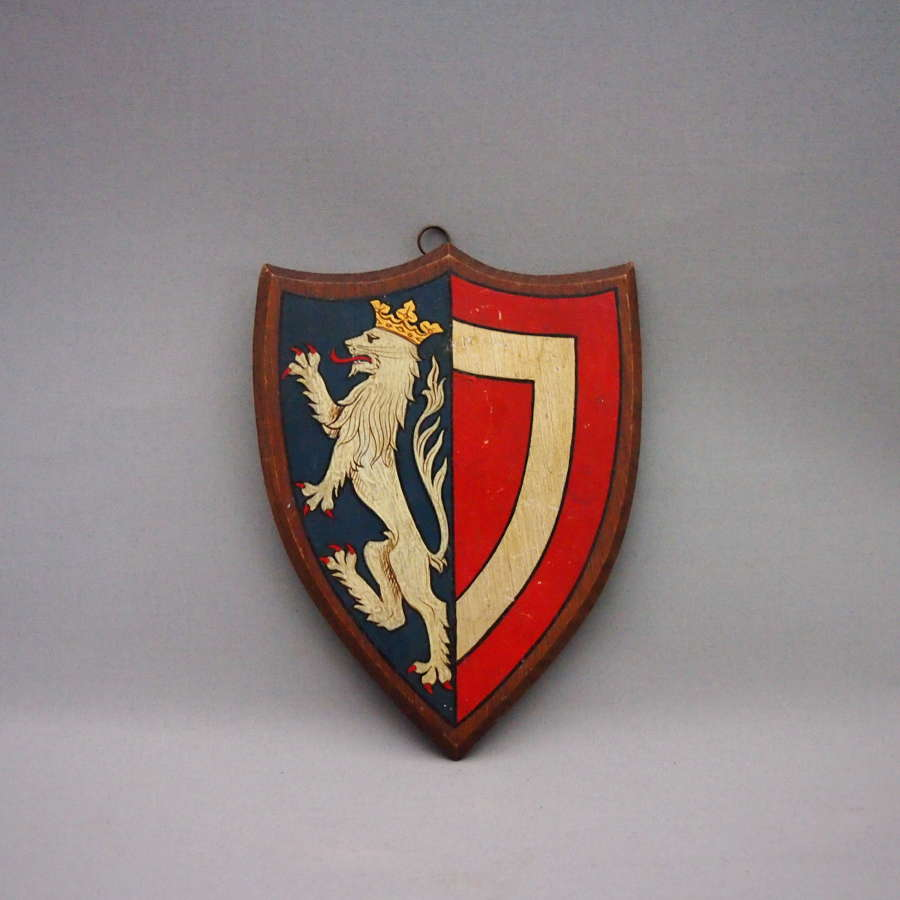 Wood Painted Crested University Shield W8574