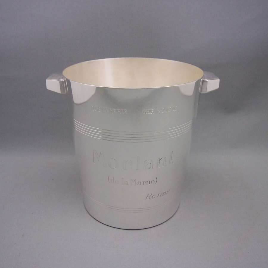 French Silver Plated Vintage Champagne Bucket, W8594