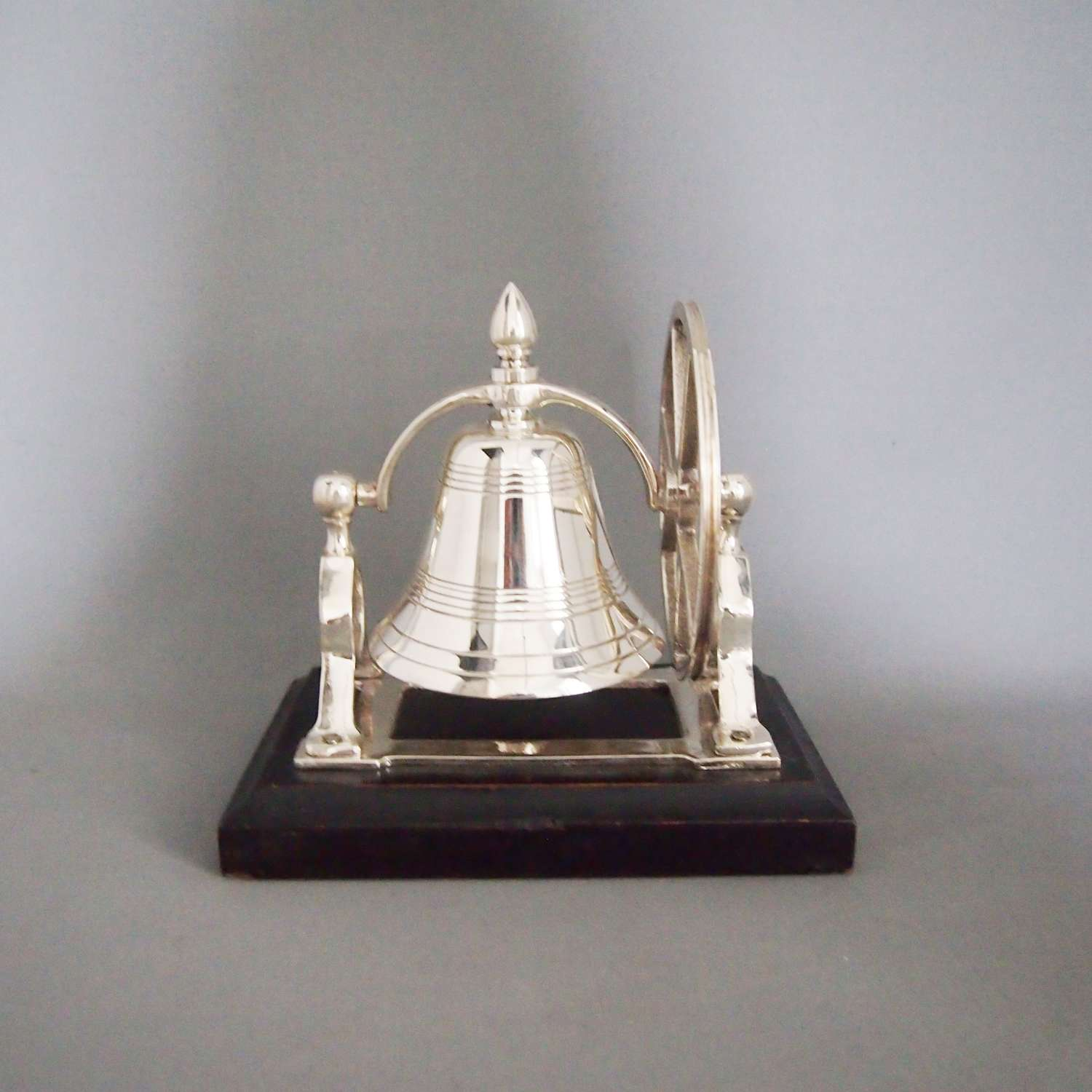 Silver Plated Vintage Table Bell on Stand . W8594