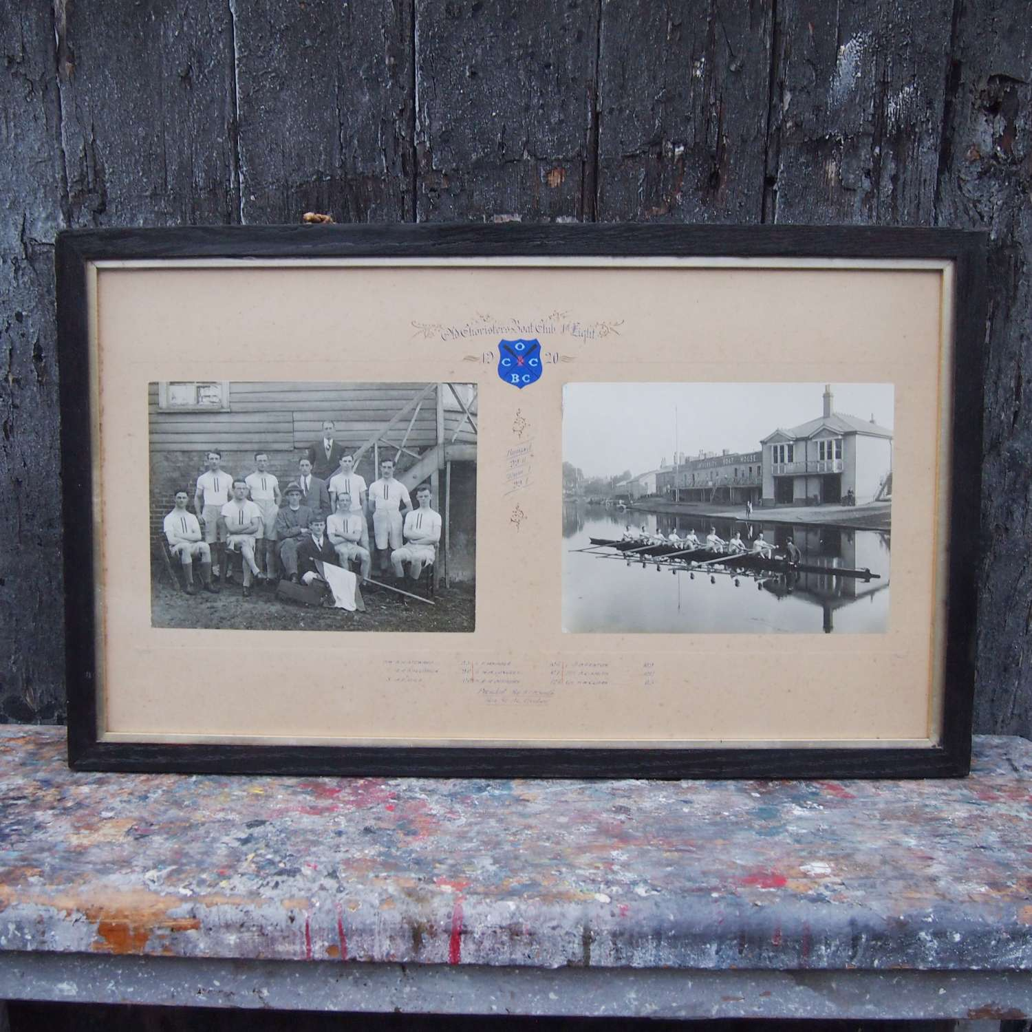 Antique Cambridge University Framed Rowing Photograph.W8620
