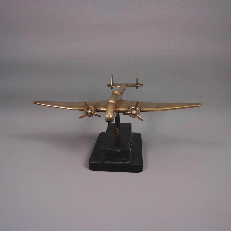 Original Brass Vintage Model Aeroplane C1940.W8623