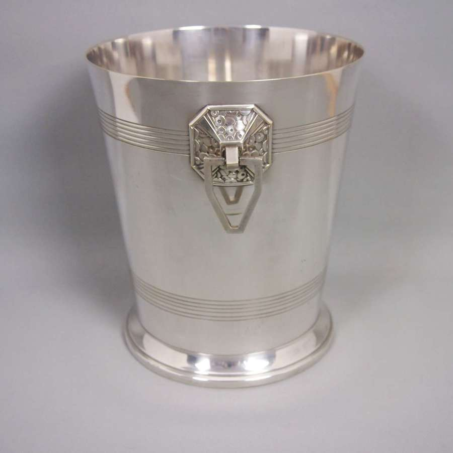 Arts & Crafts Style  Vintage Silver Plated Champagne Cooler . W8638
